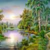 Baharda Nehir Ve Ağaçlar