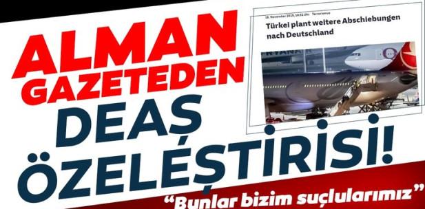 Alman Süddeutsche Zeitung: Yüzlerce Alman DEAŞ militanı olmak için Suriye'ye gitti! Bunlar bizim suçlularımız