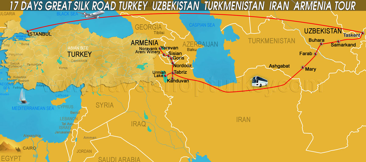 iran and silk road With currently around 200 employees, the silk road group provides effective solutions for the railroad and caspian sea transportation, ensuring safe rail and sea carriage, together with transshipment services in the seaports of azerbaijan, georgia, iran, kazakhstan, russia and turkmenistan.